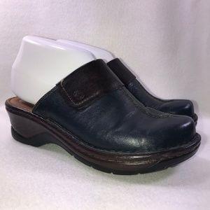 Josef Seibel Navy Leather Mules Women's 37 7
